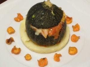 Receta vegetariana de calabacin relleno