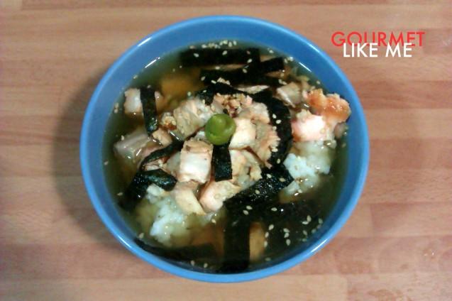 Receta de sopa de la cocina tradicional japonesa