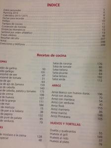 Agenda con recetas 2014