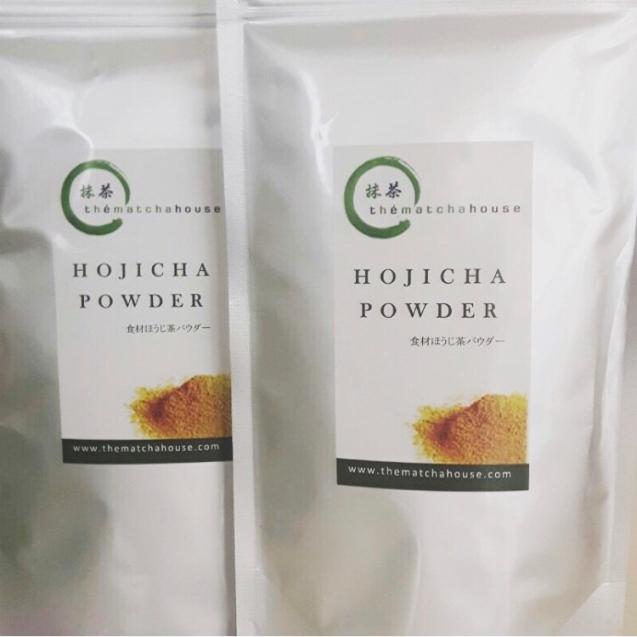 hojicha powder para houjicha latte